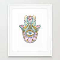 hamsa Framed Art Prints featuring Hamsa  by Natasha Zen