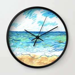 The Beach Front Wall Clock