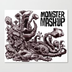 Zombie Monster Mashup Canvas Print