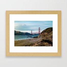 Golden Gate at Baker Beach Framed Art Print