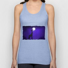 watch out here lives a hungry giraffe. Unisex Tank Top