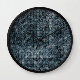 Ink Stitch: Aquamarine (dark) Wall Clock