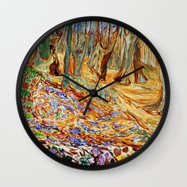 Edvard Munch - Elm Forest in Spring Wall Clock
