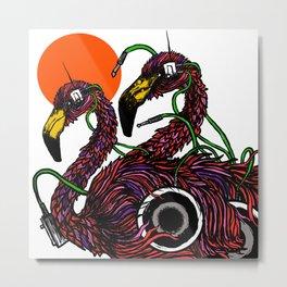 """""""Flamingos"""" Metal Print"""
