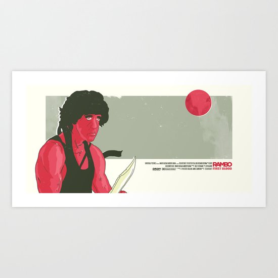 Rambo First Blood Movie  Scene  Art Print