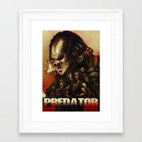 predator Framed Art Prints featuring Predator by ChrisNygaard