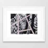 brain waves Framed Art Prints featuring Brain Waves by Kaitlin Andesign