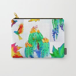 Watercolor Garden Carry-All Pouch