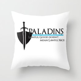 Paladin Throw Pillow