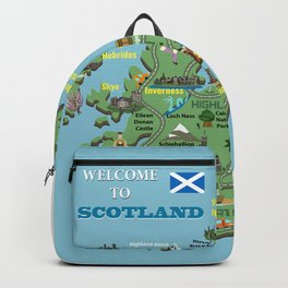 Map of Scotland Backpack