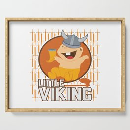 Viking Baby Son Dad Fathers Day Valhalla Gods Gift Serving Tray