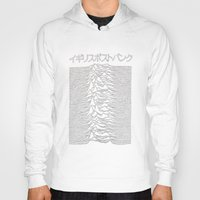 joy division Hoodies featuring Joy Division Pulsar Art Japanese  by tumblrian