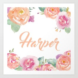 Harper Name Art Print