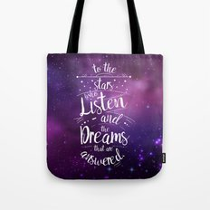 ACOMAF- To the Stars Who Listen And the Dreams that are Answered Tote Bag