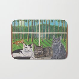 Window Cats Bath Mat