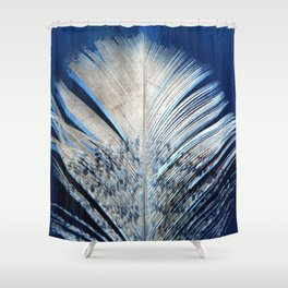 Feather | Feathers | Spiritual | White and Blue Feather | Nature Shower Curtain