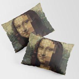Mona Lisa on tiles Pillow Sham