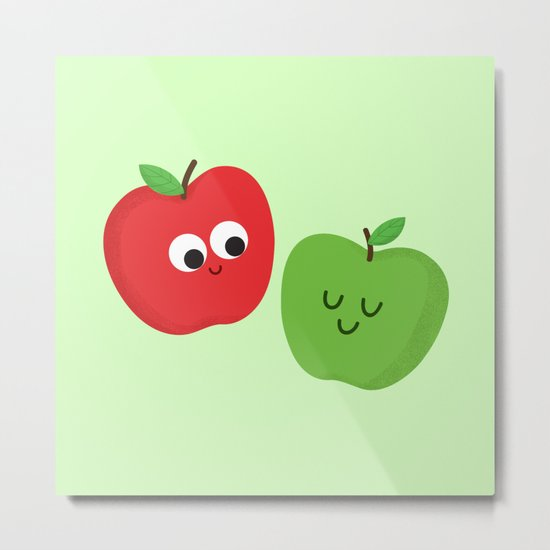 Happy Apples Metal Print