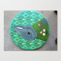 wesley bird Canvas Prints featuring Wesley Diggerson by Tracey Townsend