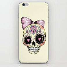 Sugar Skull (Yellow) iPhone Skin