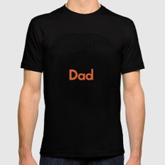 Dad Moustache Black MEDIUM Mens Fitted Tee