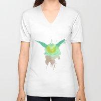 yoda V-neck T-shirts featuring Yoda by SpooksieBoo
