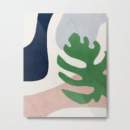 Abstract art, Mid century modern wall art Metal Print