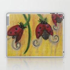 Ladybug Flowers Laptop & iPad Skin