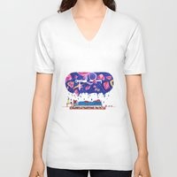 milky way V-neck T-shirts featuring Milky Way by A.Bran