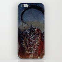 smaug iPhone & iPod Skins featuring Smaug by Cécile Pellerin