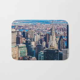 Midtown from top (HDR Color) Bath Mat