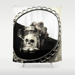 Confronting Death Shower Curtain