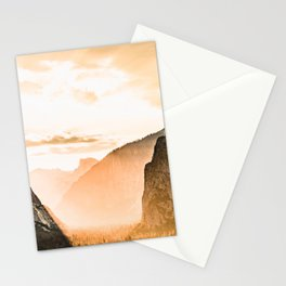 Yosemite Valley Burn - Sunrise Stationery Cards