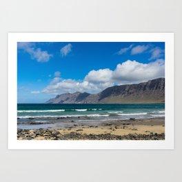Famara Beach, Lanzarote Art Print