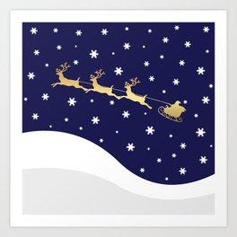Christmas Santa Claus Art Print