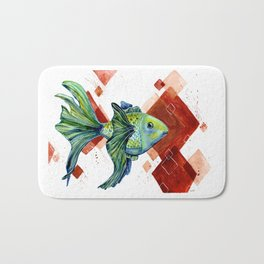 Gold fish Bath Mat