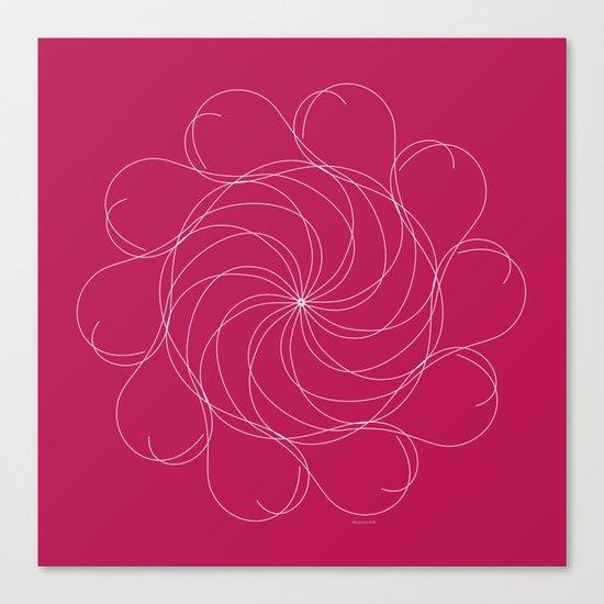 Ornament – Turning Flower Canvas Print