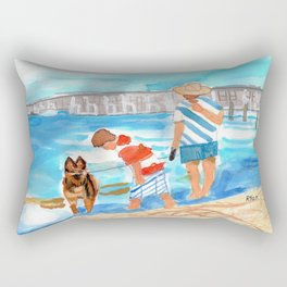 A Day at the Beach (finished) Rectangular Pillow