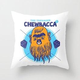 Hipster Chewie Throw Pillow