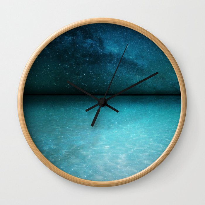 Night Swimming Wall Clock