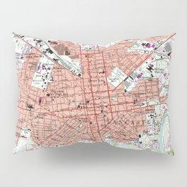 Vintage Map of Lancaster Pennsylvania (1956) 2 Pillow Sham