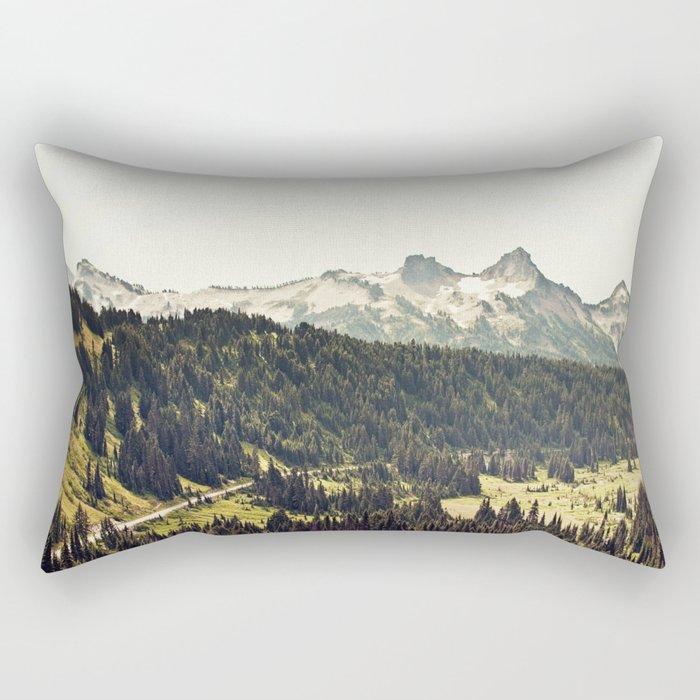 Epic Drive through the Mountains Rectangular Pillow