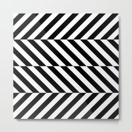 Black and White Op Art Design Metal Print
