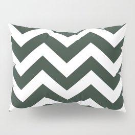 Black leather jacket - green color -  Zigzag Chevron Pattern Pillow Sham