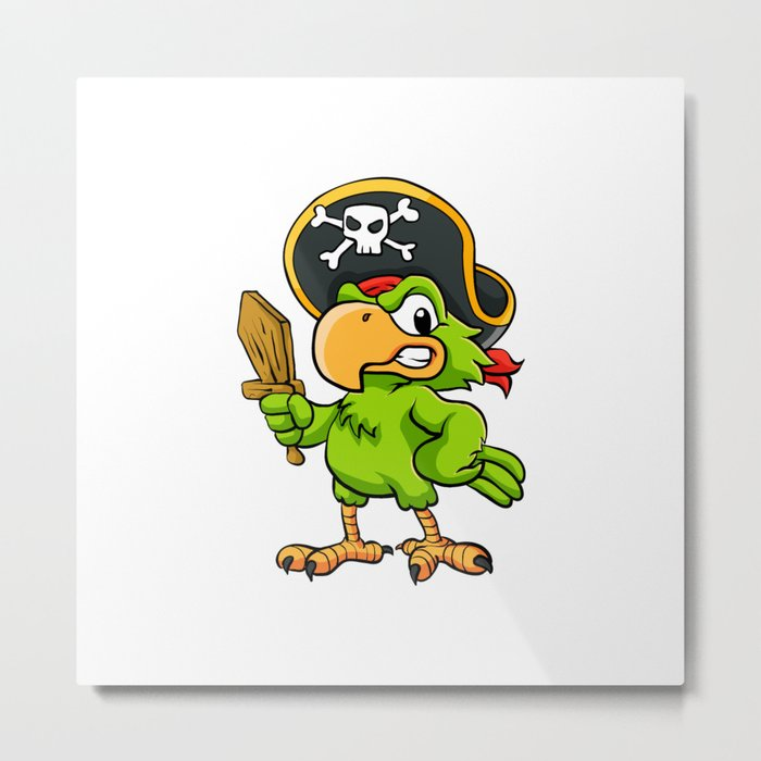 Pirate Parrot Metal Print