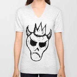 Skull emoji black #2-4 Unisex V-Neck