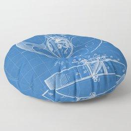 Film Reel Patent - Classic Cinema Art - Blueprint Floor Pillow
