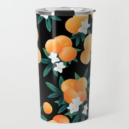 Orange Twist Flower Night Vibes #1 #tropical #fruit #decor #art #society6 Travel Mug