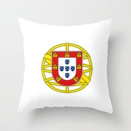 Portuguese Flag (Bandeira Portuguesa) Throw Pillow