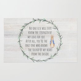 Moms Love w/Weathered wood background Rug